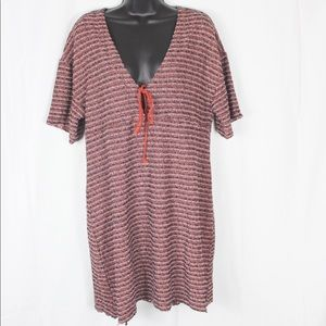 Zara Trafaluc Knitted Keyhole Dress